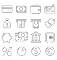 set of icons in line style everything you need vector image vector image