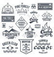 Set of retro vintage camping badges vector image vector image