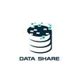 share database icon on white background vector image