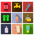 simple set of hygiene icons contains such icons vector image