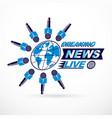 social telecommunication theme logo created vector image vector image