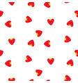 strawberry seamless fruit pattern berry vector image