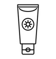 sun lotion tube icon outline style vector image