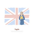 teacher from great britain native speaker vector image