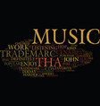 tha trademark text background word cloud concept vector image