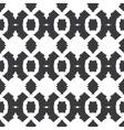 Tribal Black White Textile Seamless Pattern vector image
