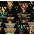 tribal ethnic seamless pattern with geometric vector image vector image