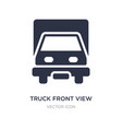 truck front view icon on white background simple vector image vector image