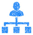 user hierarchy grunge icon vector image vector image