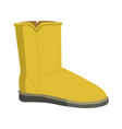 warm winter bright soft ugg boot isolated vector image