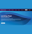 website landing page background vector image vector image
