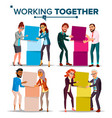 working together concept communication vector image vector image