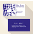 blue abstract dots business card design eps10 vector image