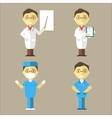 Doctor Nurse and Surgeon vector image