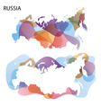 Design Map of Russia background vector image