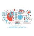 Modern Flat thin Line design science medical vector image