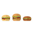 burger bread icons menu design elements vector image
