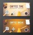 coffee break banner backdrops templates vector image