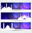eid banners vector image