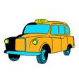 yellow taxi icon cartoon vector image