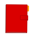 A view of a Diary vector image vector image