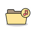 audio folder media music note player sound icon vector image