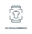 augmented reality commerce icon monochrome style vector image