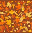 autumn leaves background seamless pattern eps 10 vector image