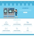 Bank Landing Page Template vector image vector image