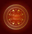 beautiful gold ornament for diwali celebration or vector image
