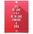 Beautiful lettering about love vector image vector image