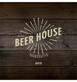 Beer house badges logos and labels for any use vector image vector image