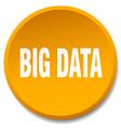 big data orange round flat isolated push button vector image vector image