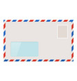 blank envelope with address window vector image vector image