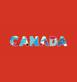 canada concept word art vector image