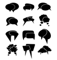 Chat bubble icons set vector image