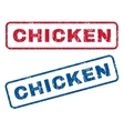 Chicken Rubber Stamps vector image vector image
