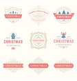 christmas quotes labels and badges design vector image vector image