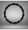 Circle Chain Frame vector image vector image