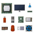 computer and hardware icon vector image