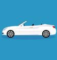 convertible car body type vector image vector image