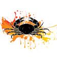 crab black silhouette vector image