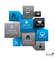 Cube box for business concept with icons Modern vector image vector image