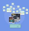 design web interface website computer development vector image vector image
