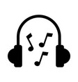 earphones device with music notes vector image vector image