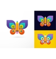 Education learning icon - butterfly and pencil vector image