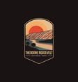 emblem patch theodore roosevelt national park vector image vector image