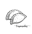 empanadas or fried pie vector image