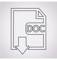 file type doc icon vector image