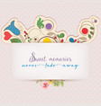 floral greeting card with text message design vector image vector image